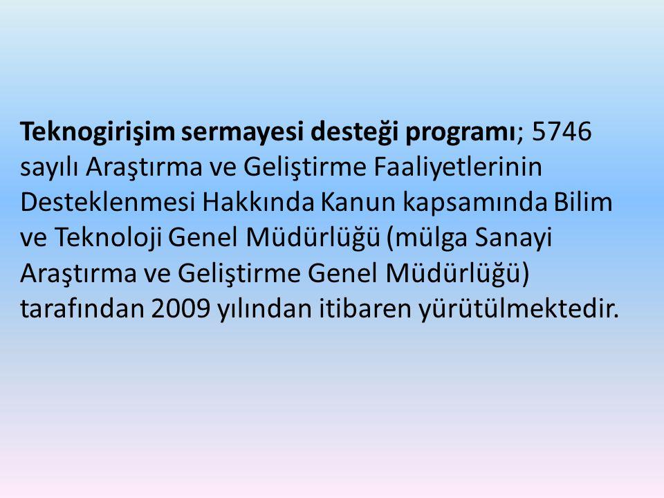 Teknogirişim sermayesi desteği programı; 5746 sayılı Araştırma ve Geliştirme Faaliyetlerinin Desteklenmesi Hakkında Kanun kapsamında Bilim ve Teknoloji Genel Müdürlüğü (mülga Sanayi Araştırma ve Geliştirme Genel Müdürlüğü) tarafından 2009 yılından itibaren yürütülmektedir.