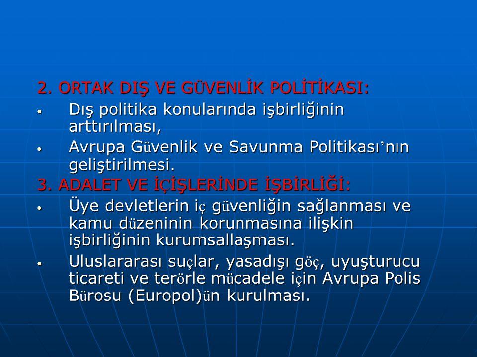 2. ORTAK DIŞ VE GÜVENLİK POLİTİKASI: