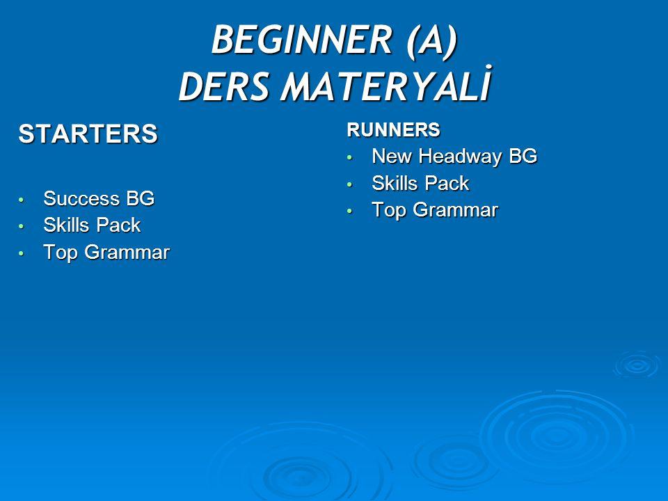 BEGINNER (A) DERS MATERYALİ