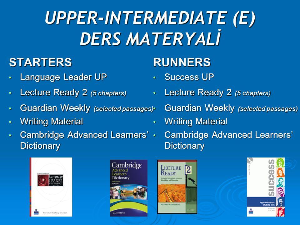 UPPER-INTERMEDIATE (E) DERS MATERYALİ