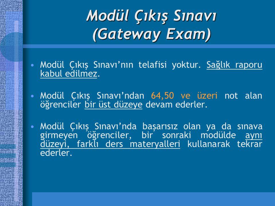 Modül Çıkış Sınavı (Gateway Exam)