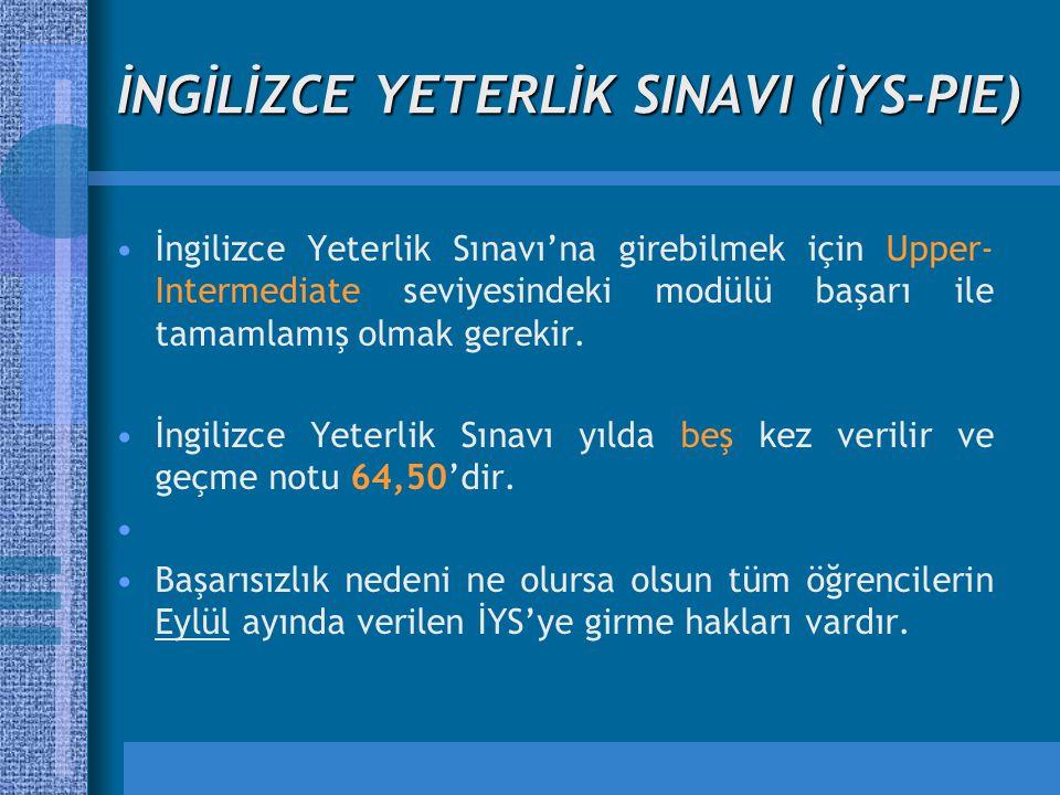 İNGİLİZCE YETERLİK SINAVI (İYS-PIE)