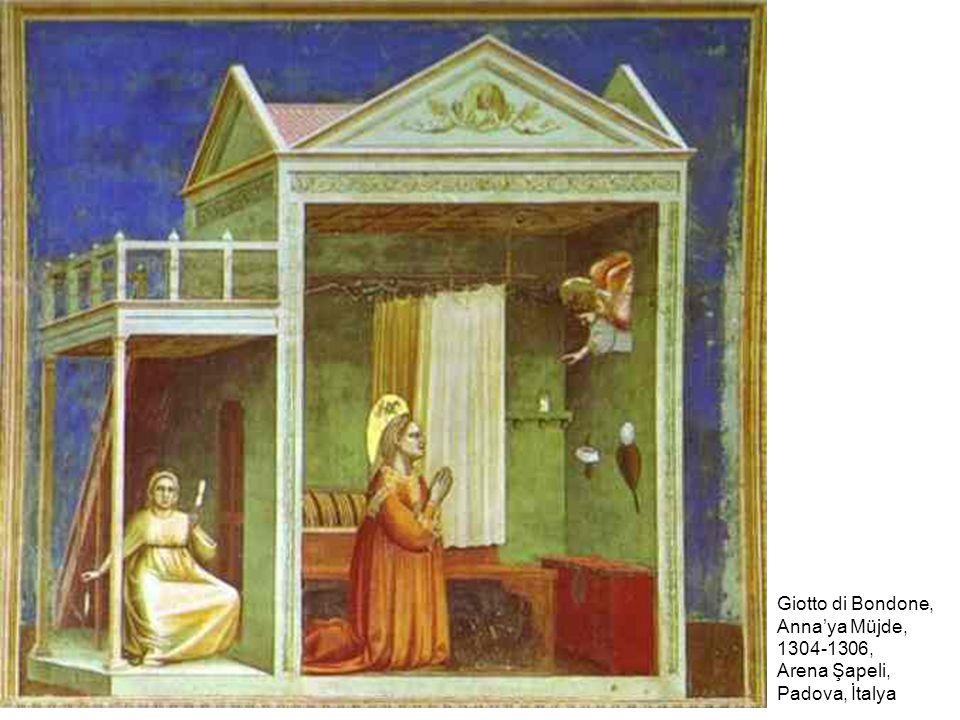 Giotto di Bondone, Anna'ya Müjde, 1304-1306, Arena Şapeli, Padova, İtalya
