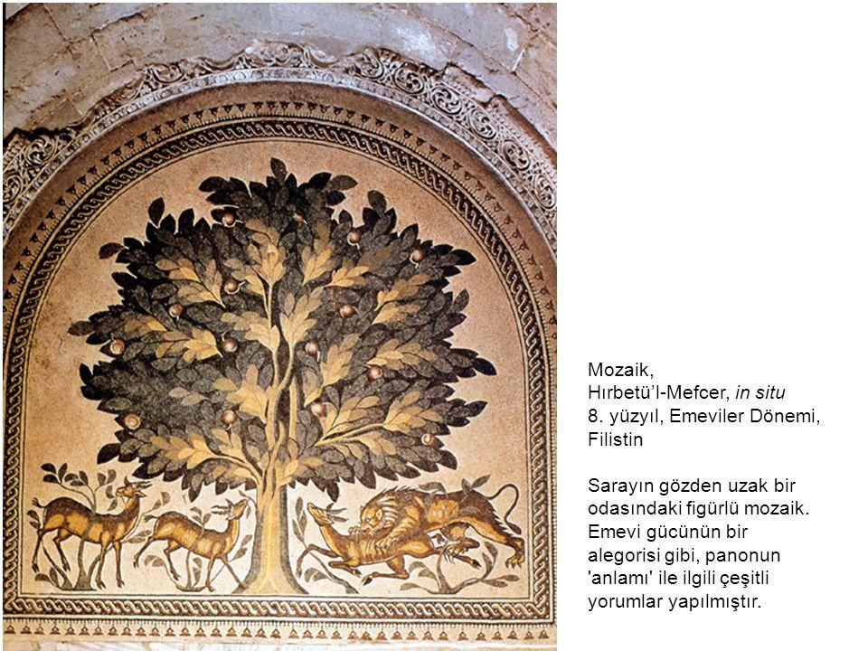 Mozaik, Hırbetü'l-Mefcer, in situ. 8. yüzyıl, Emeviler Dönemi, Filistin.