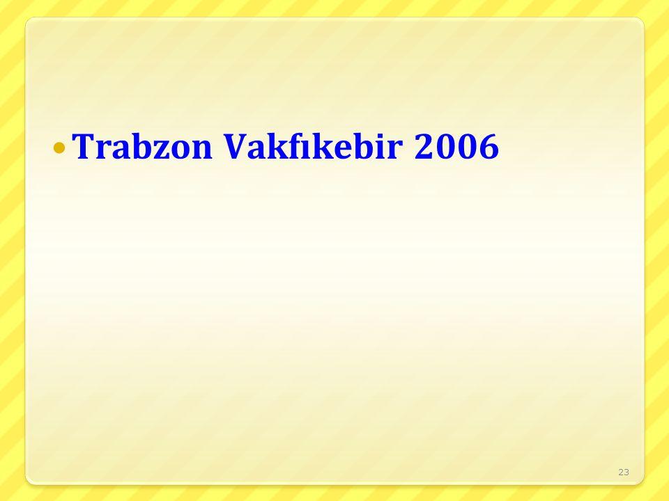 Trabzon Vakfıkebir 2006