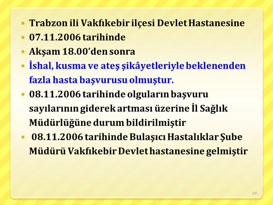 Trabzon ili Vakfıkebir ilçesi Devlet Hastanesine