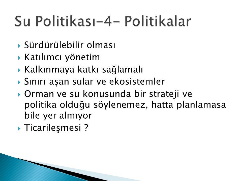 Su Politikası-4- Politikalar