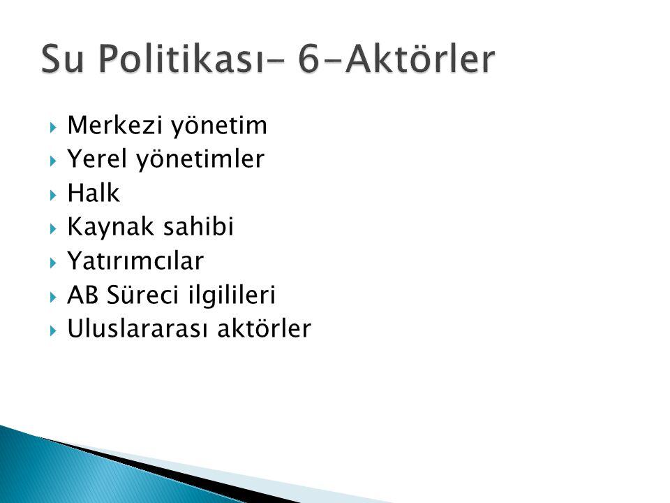 Su Politikası- 6-Aktörler