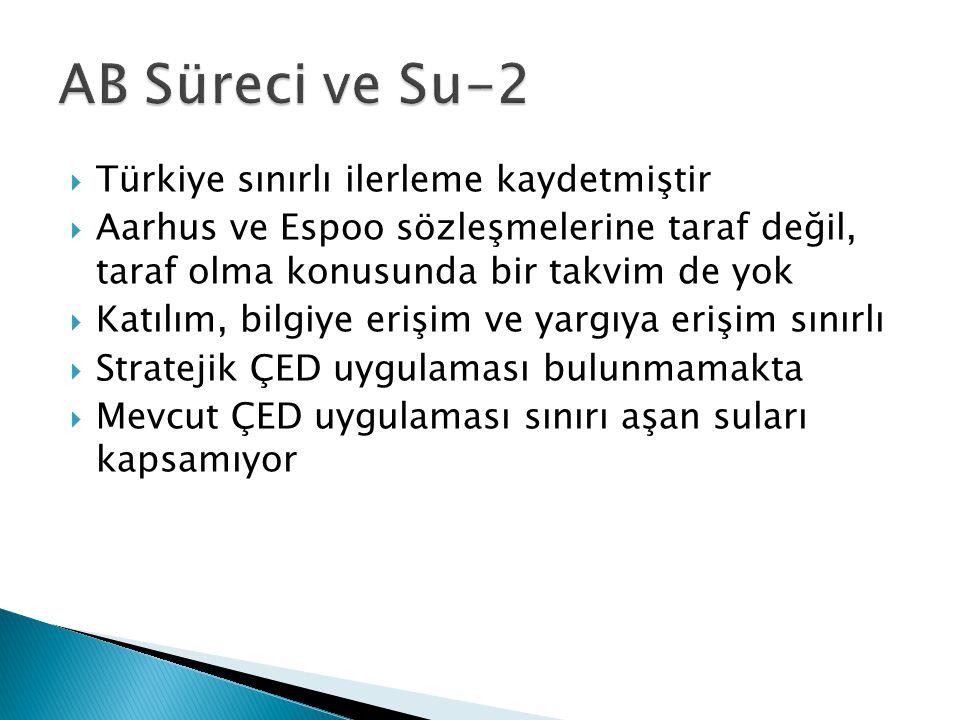 AB Süreci ve Su-2 Türkiye sınırlı ilerleme kaydetmiştir