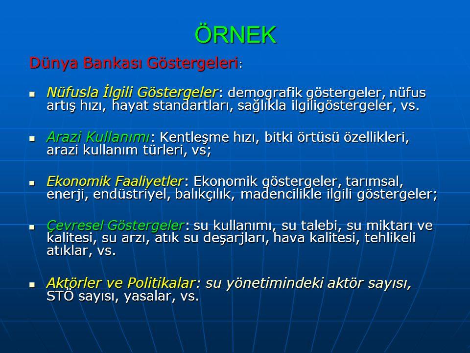 ÖRNEK Dünya Bankası Göstergeleri: