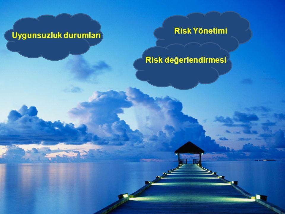 Risk Yönetimi Uygunsuzluk durumları Risk değerlendirmesi
