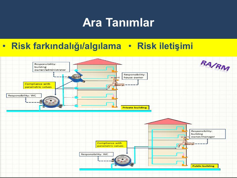 Ara Tanımlar Risk farkındalığı/algılama Risk iletişimi