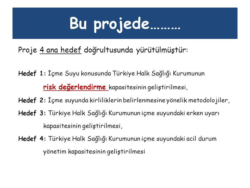 Bu projede……… Proje 4 ana hedef doğrultusunda yürütülmüştür: