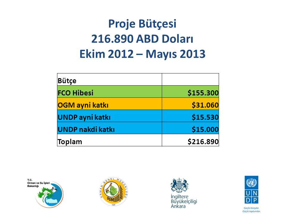 Proje Bütçesi 216.890 ABD Doları Ekim 2012 – Mayıs 2013
