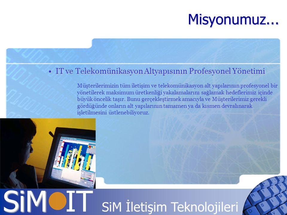 Misyonumuz... IT ve Telekomünikasyon Altyapısının Profesyonel Yönetimi