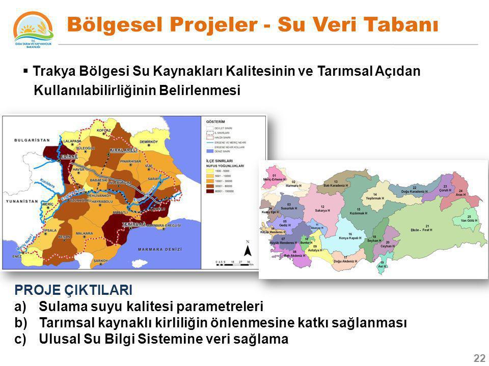 Bölgesel Projeler - Su Veri Tabanı