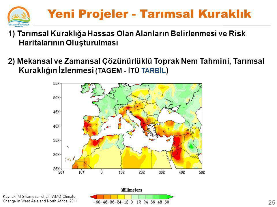Yeni Projeler - Tarımsal Kuraklık