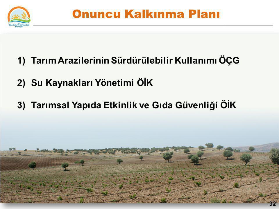 Onuncu Kalkınma Planı Tarım Arazilerinin Sürdürülebilir Kullanımı ÖÇG