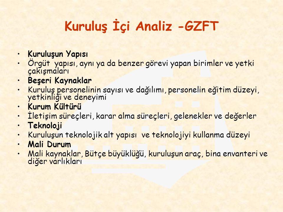 Kuruluş İçi Analiz -GZFT