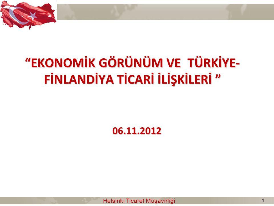 EKONOMİK GÖRÜNÜM VE TÜRKİYE-FİNLANDİYA TİCARİ İLİŞKİLERİ 06.11.2012