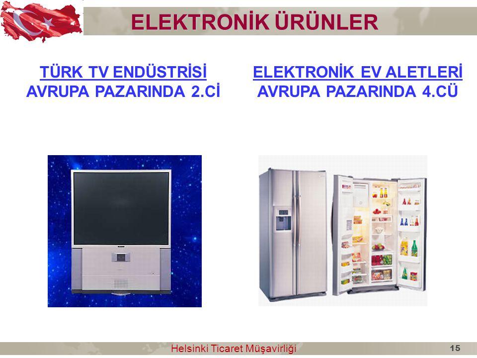 ELEKTRONİK ÜRÜNLER TÜRK TV ENDÜSTRİSİ AVRUPA PAZARINDA 2.Cİ