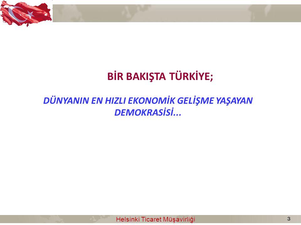 DÜNYANIN EN HIZLI EKONOMİK GELİŞME YAŞAYAN DEMOKRASİSİ...