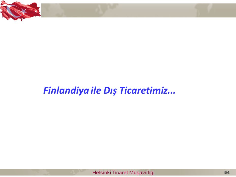Finlandiya ile Dış Ticaretimiz...