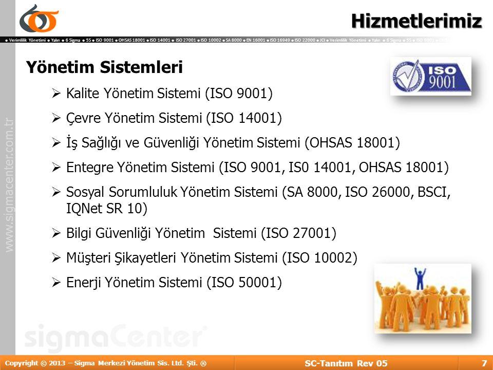 Hizmetlerimiz Yönetim Sistemleri Kalite Yönetim Sistemi (ISO 9001)