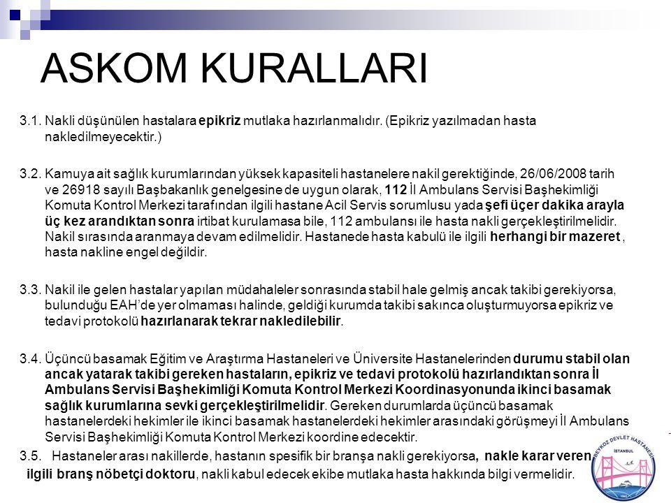 ASKOM KURALLARI