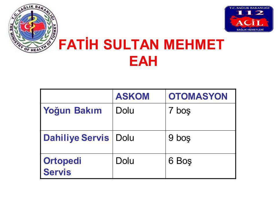 FATİH SULTAN MEHMET EAH