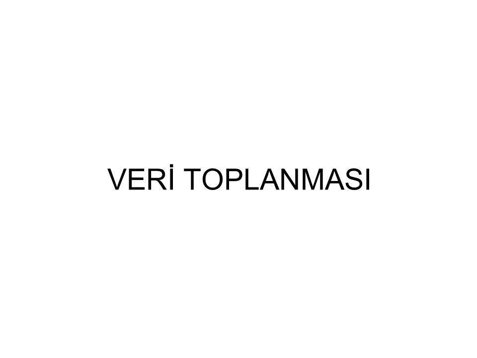 VERİ TOPLANMASI