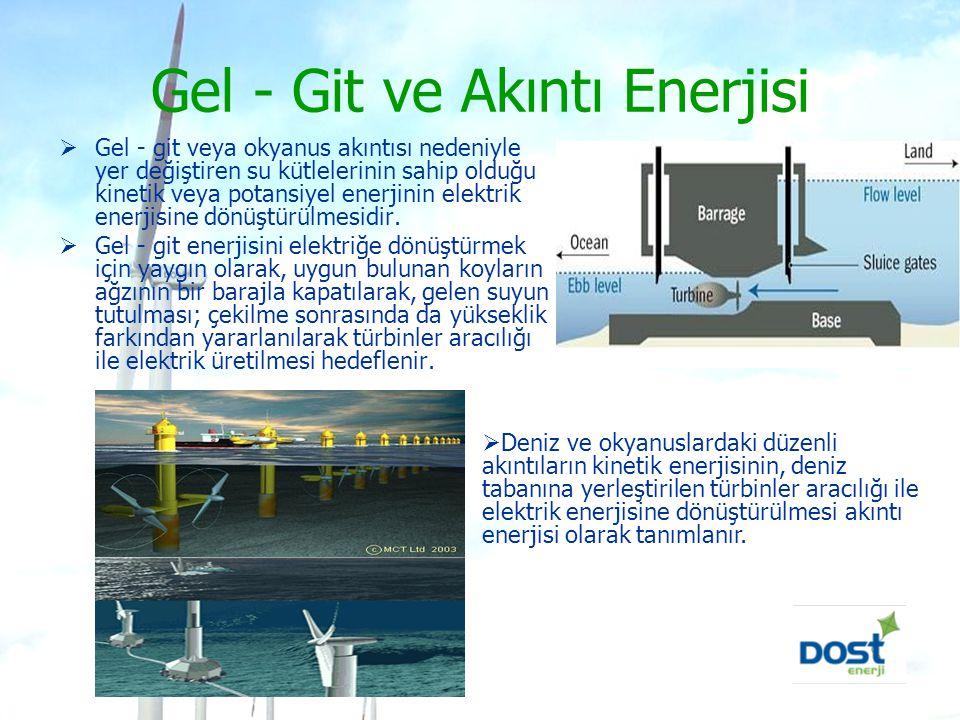 Gel - Git ve Akıntı Enerjisi