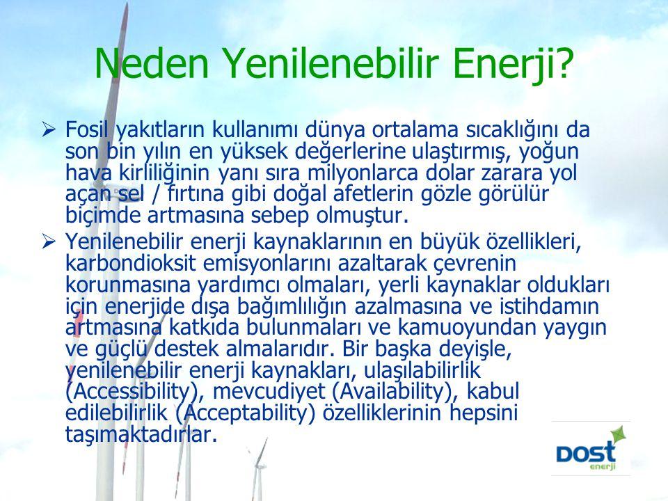 Neden Yenilenebilir Enerji