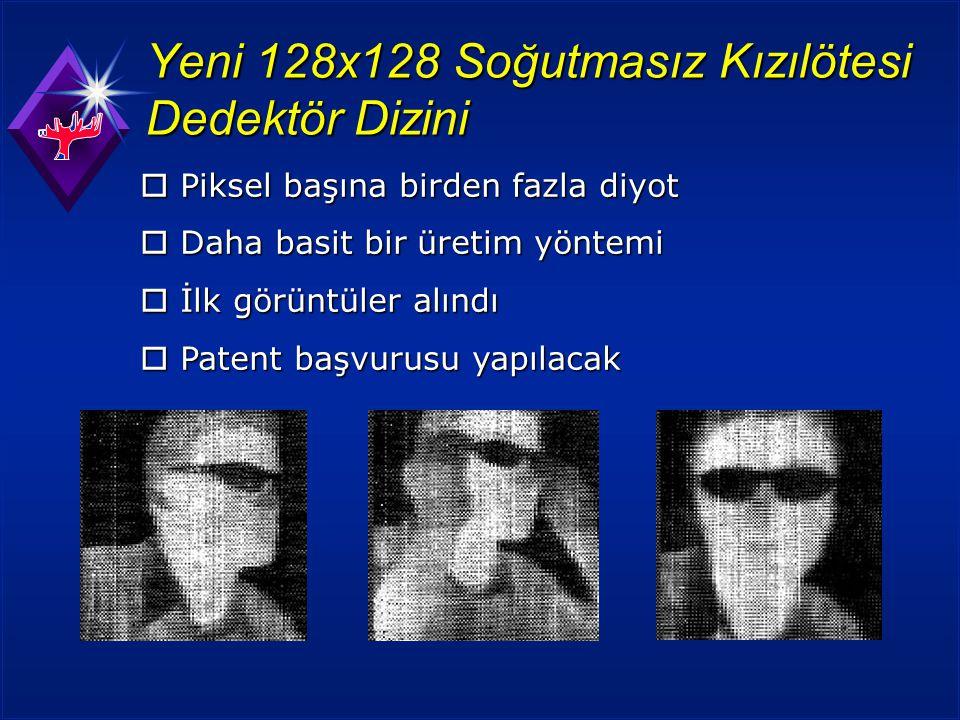 Yeni 128x128 Soğutmasız Kızılötesi Dedektör Dizini