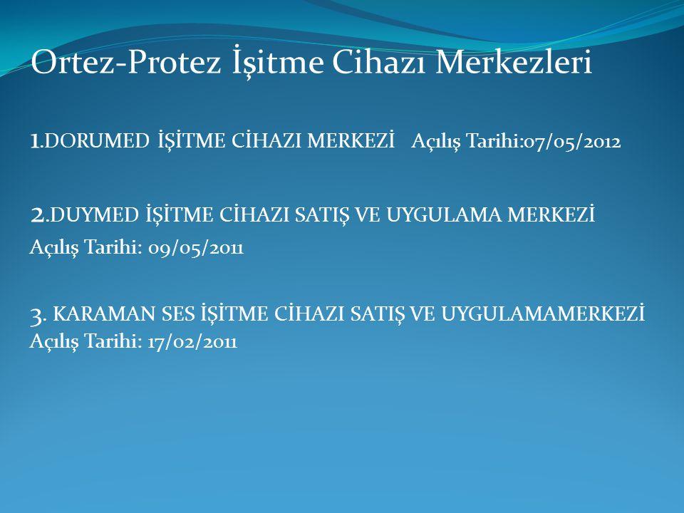 Ortez-Protez İşitme Cihazı Merkezleri