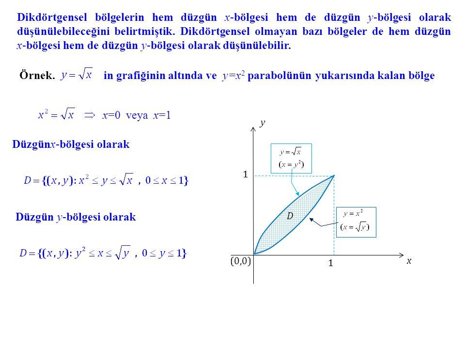 in grafiğinin altında ve y=x2 parabolünün yukarısında kalan bölge