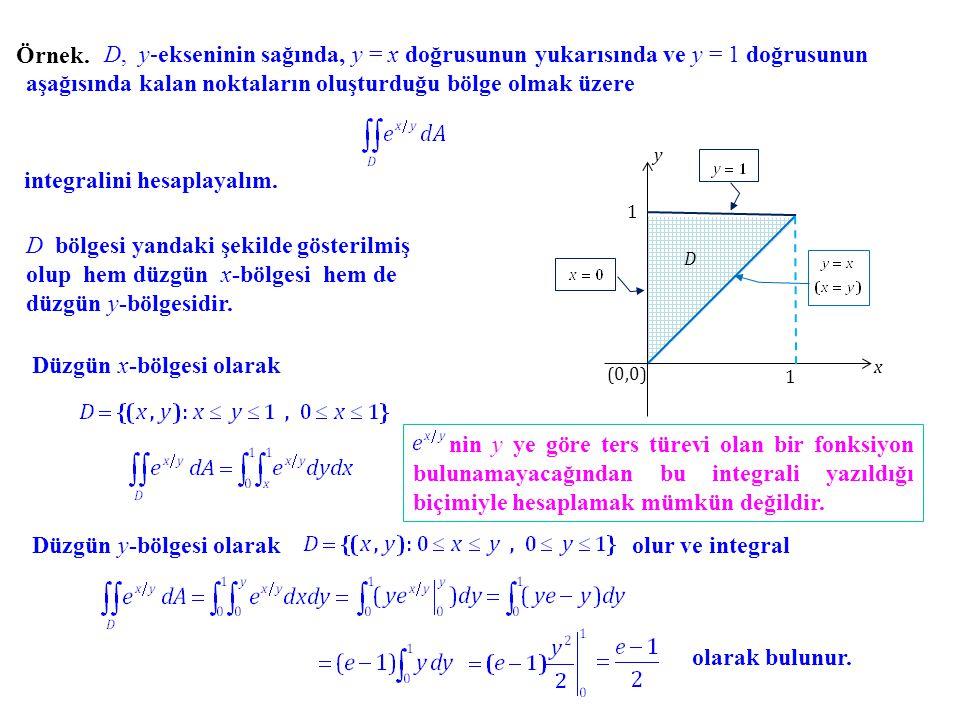 integralini hesaplayalım.