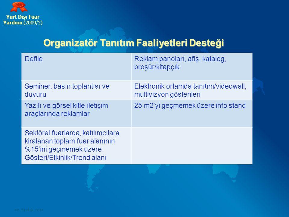 Organizatör Tanıtım Faaliyetleri Desteği