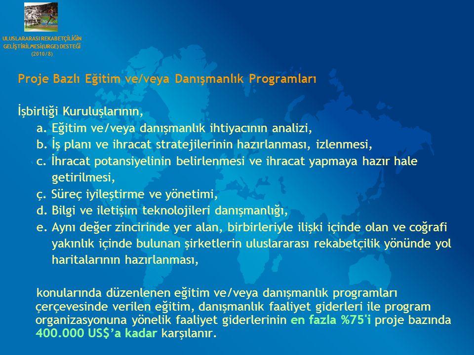 Proje Bazlı Eğitim ve/veya Danışmanlık Programları