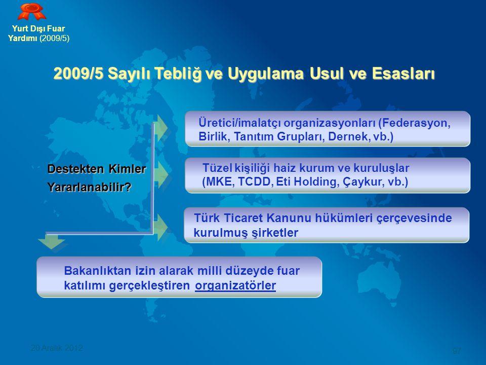 2009/5 Sayılı Tebliğ ve Uygulama Usul ve Esasları