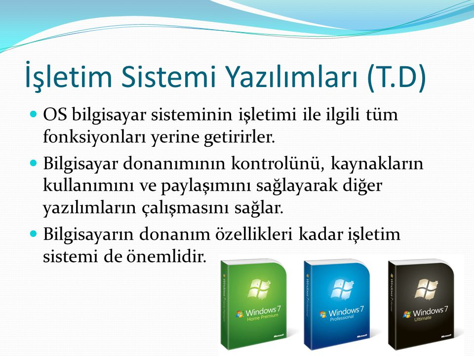 İşletim Sistemi Yazılımları (T.D)