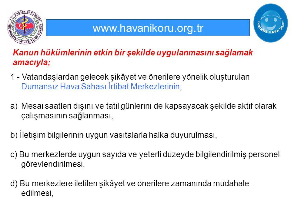 www.havanikoru.org.tr Kanun hükümlerinin etkin bir şekilde uygulanmasını sağlamak amacıyla;