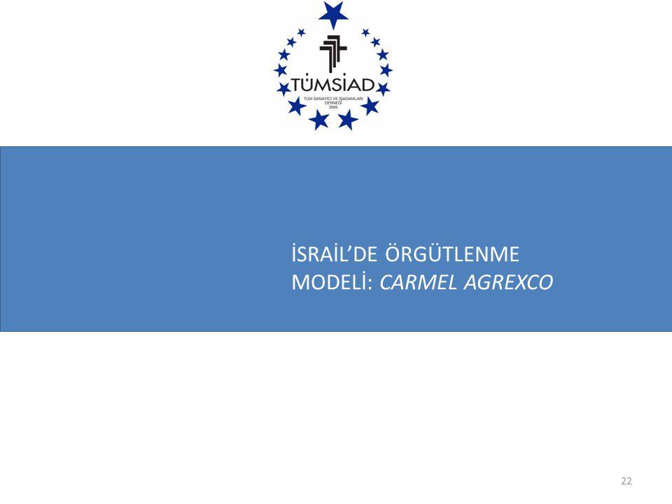 İSRAİL'DE ÖRGÜTLENME MODELİ: CARMEL AGREXCO