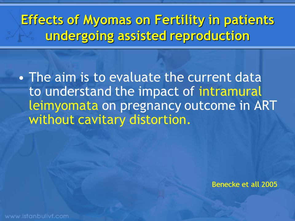 Effects of Myomas on Fertility in patients undergoing assisted reproduction