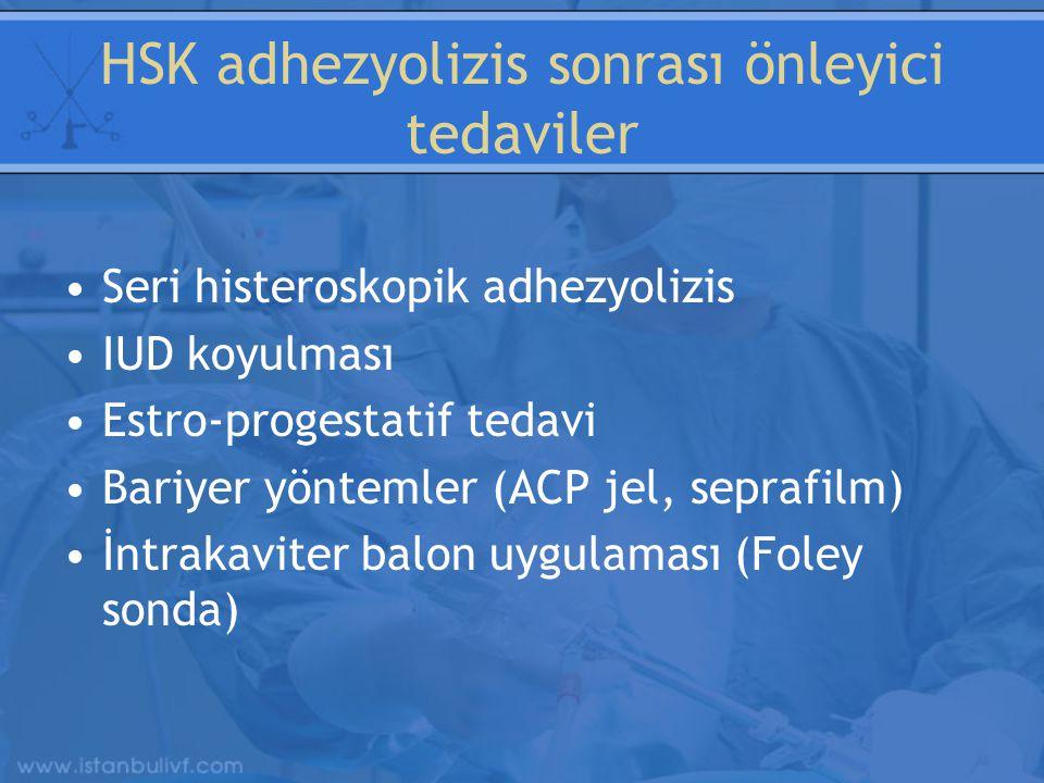 HSK adhezyolizis sonrası önleyici tedaviler