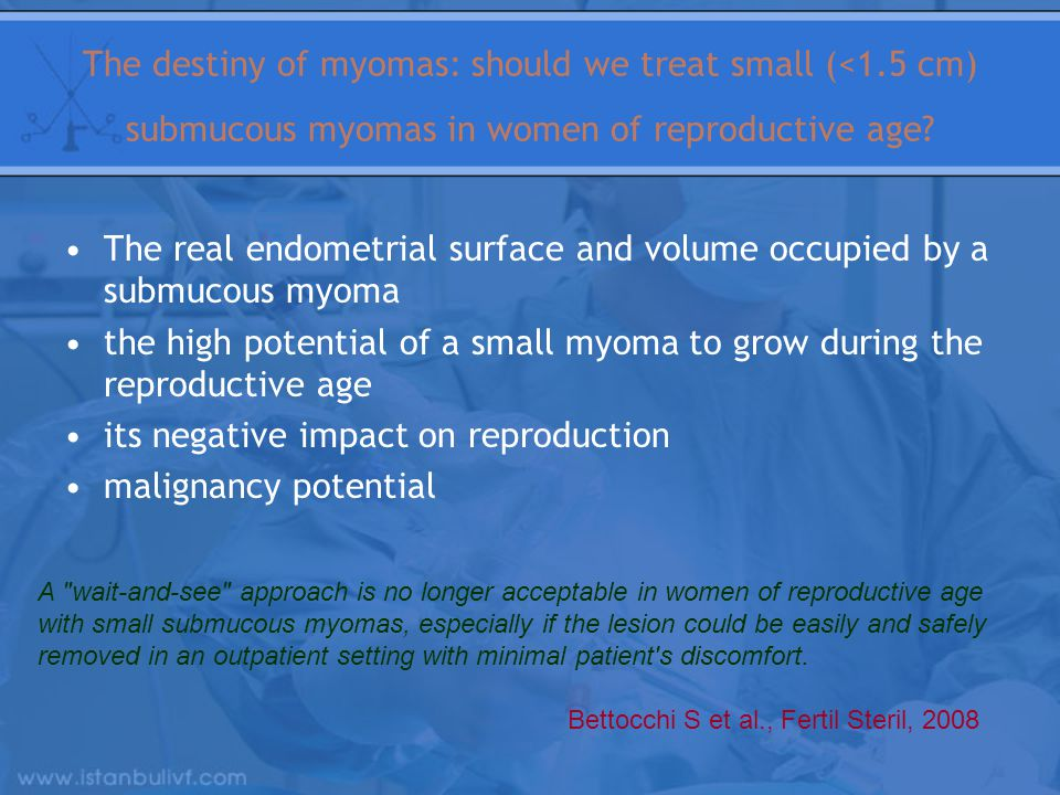 The real endometrial surface and volume occupied by a submucous myoma
