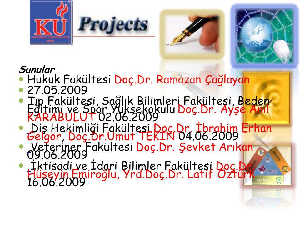 Hukuk Fakültesi Doç.Dr. Ramazan Çağlayan 27.05.2009