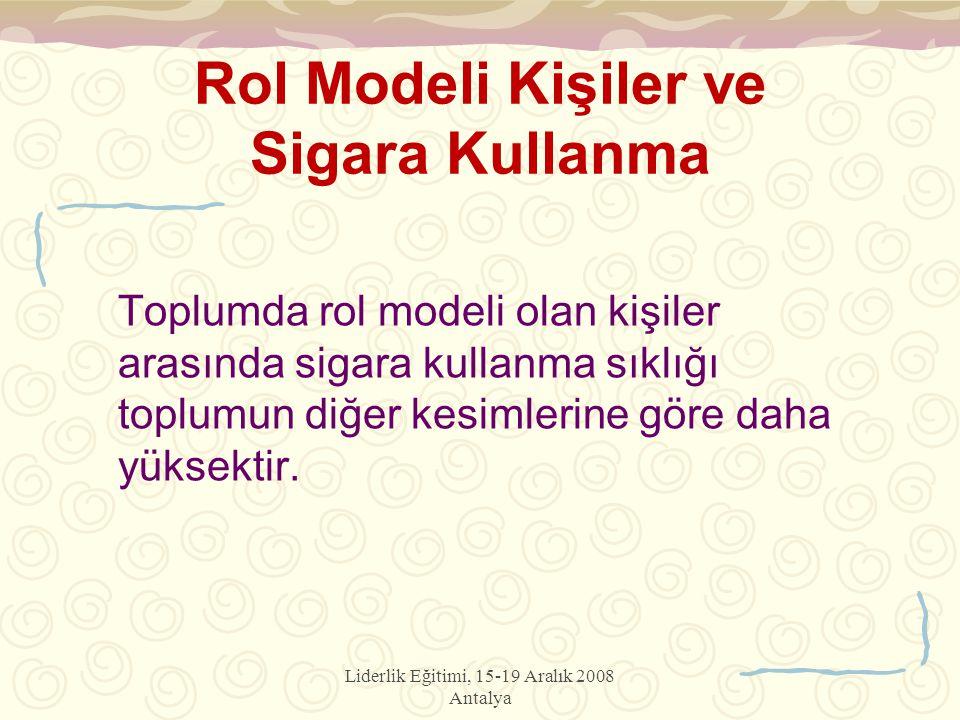 Rol Modeli Kişiler ve Sigara Kullanma