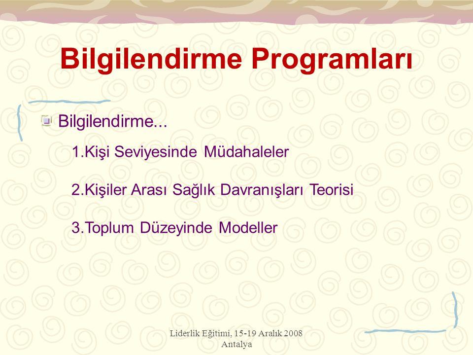 Bilgilendirme Programları