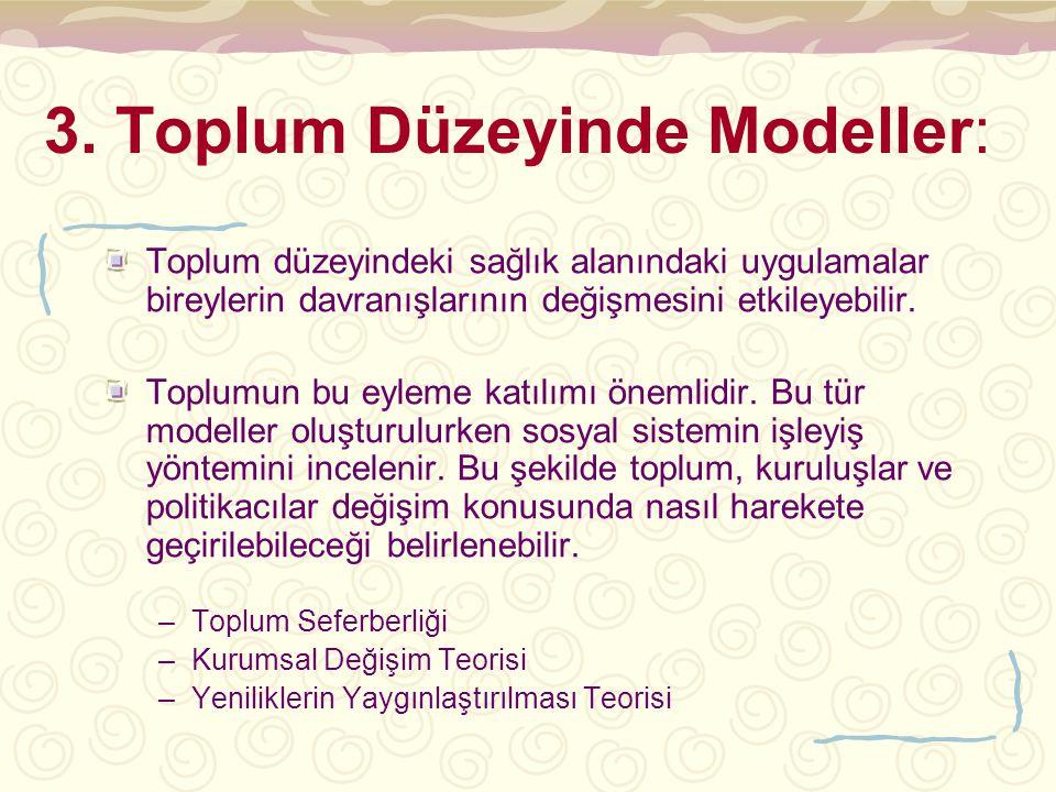 3. Toplum Düzeyinde Modeller: